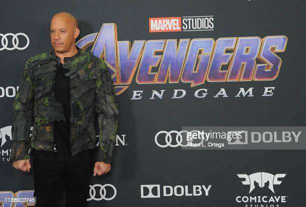 Vin Diesel arrives for the World Premiere Of Walt Disney Studios Motion Pictures Avengers Endgame held at Los Angeles Convention Center on April 22...