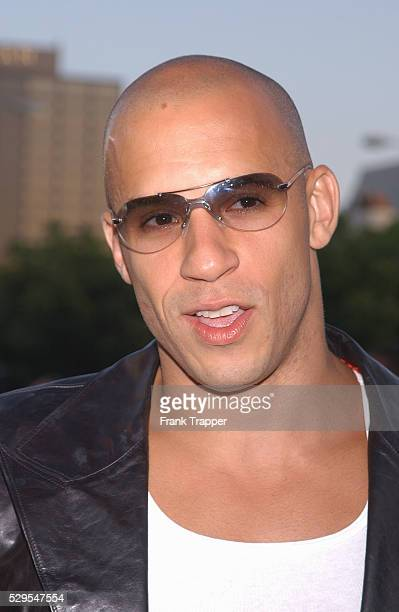 """Vin Diesel arriving at the world premiere of """"xXx."""""""