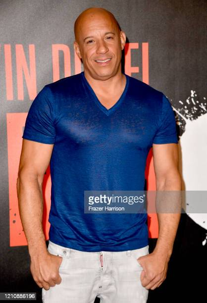"""Vin Diesel, attends a Photocall Of Sony Pictures' """"Bloodshot"""" at The London Hotel on March 06, 2020 in West Hollywood, California."""