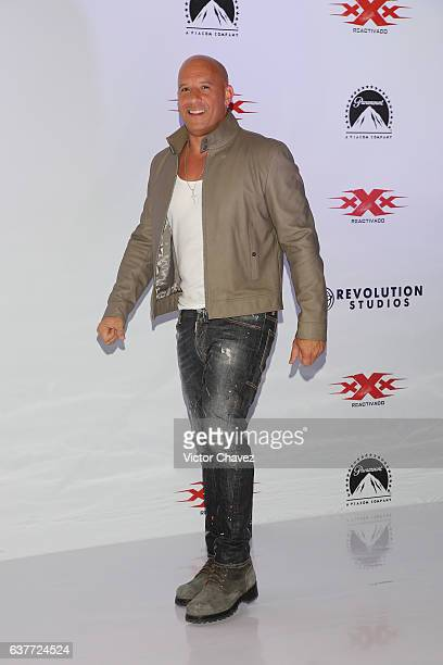 Vin Diesel attends a photocall to promote the Paramount Pictures film 'xXx Return of Xander Cage' at St Regis Hotel on January 5 2017 in Mexico City...