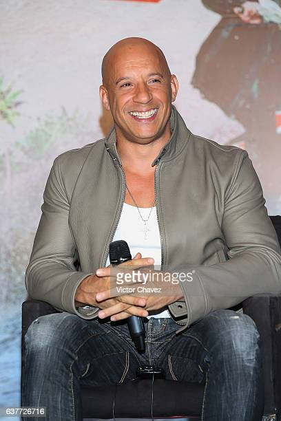 Vin Diesel attends a press conference to promote the Paramount Pictures film 'xXx Return of Xander Cage' at St Regis Hotel on January 5 2017 in...
