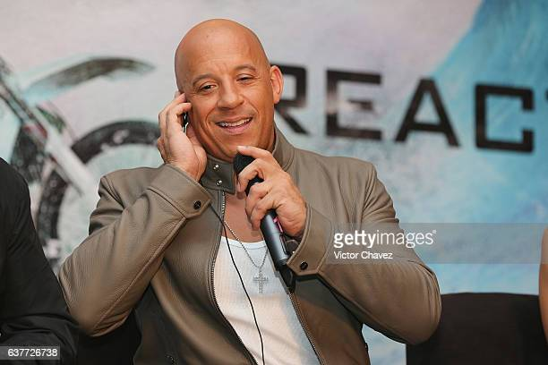 """Vin Diesel attends a press conference to promote the Paramount Pictures film """"xXx: Return of Xander Cage"""" at St. Regis Hotel on January 5, 2017 in..."""