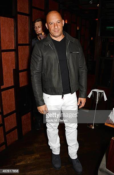 Vin Diesel attends a private dinner following the UK Premiere of 'Guardians Of The Galaxy' at Bo Lang on July 24 2014 in London England