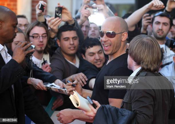 Vin Diesel attends 'Fast Furious 4' Photocall at Lomme Kinepolis on March 18 2009 in Lille France