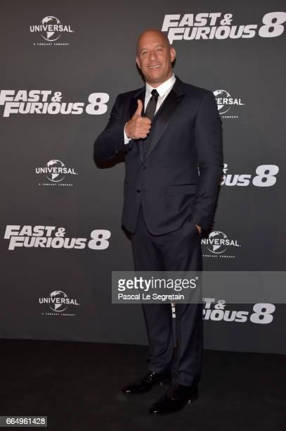 Vin Diesel attends Fast Furious 8 Premiere at Le Grand Rex on April 5 2017 in Paris France