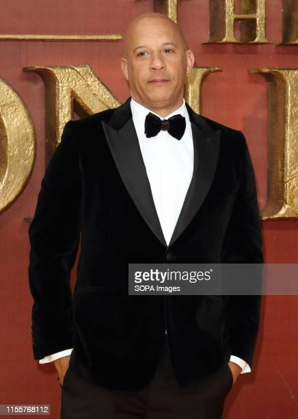 Vin Diesel attends the European Premiere of Disney's The Lion King at the Odeon Luxe cinema Leicester Square in London