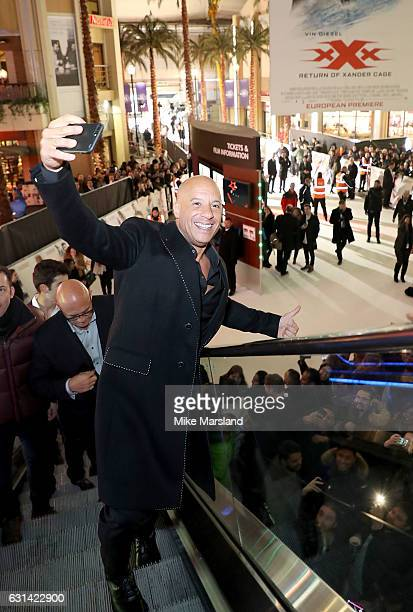 Vin Diesel attends the European Premiere of Paramount Pictures' xXx Return of Xander Cage on January 10 2017 in London United Kingdom