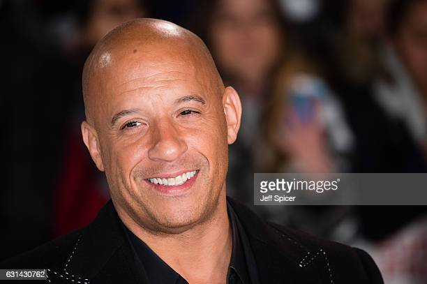"Vin Diesel attends the European premiere of ""xXx"": Return of Xander Cage' on January 10, 2017 in London, United Kingdom."