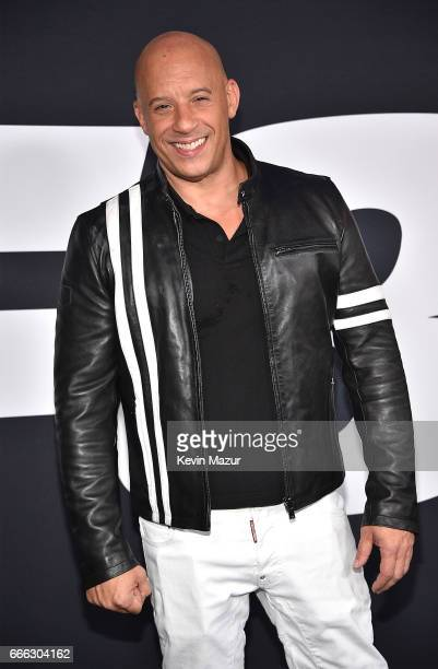 Vin Diesel attends The Fate Of The Furious New York premiere at Radio City Music Hall on April 8 2017 in New York City