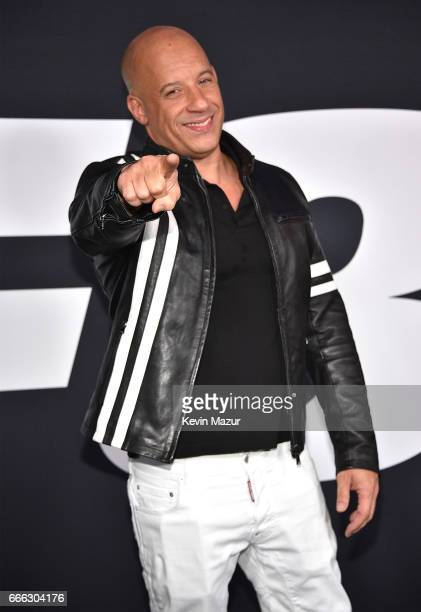 Vin Diesel attends 'The Fate Of The Furious' New York premiere at Radio City Music Hall on April 8 2017 in New York City