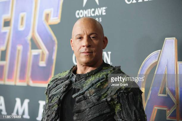 """Vin Diesel attends the Los Angeles World Premiere of Marvel Studios' """"Avengers: Endgame"""" at the Los Angeles Convention Center on April 23, 2019 in..."""