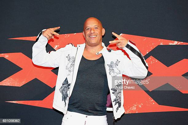 "Vin Diesel attends the Mexico City Premiere of the Paramount Pictures ""xXx: Return of Xander Cage"" at Auditorio Nacional on January 5, 2017 in Mexico..."