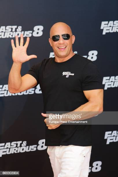 Vin Diesel attends the photocall for the film 'Fast Furious 8' at Villamagna hotel on April 6 2017 in Madrid Spain
