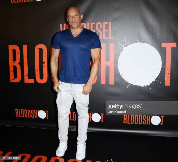 Vin Diesel attends the photocall of Sony Pictures' Bloodshot at The London Hotel on March 06 2020 in West Hollywood California