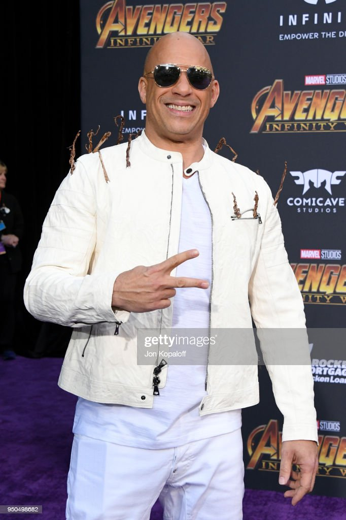 Vin Diesel attends the premiere of Disney and Marvel's 'Avengers: Infinity War' on April 23, 2018 in Los Angeles, California.