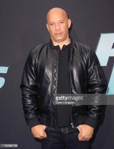 """Vin Diesel attends the premiere of Netflix's """"Fast and Furious: Spy Racers"""" at Universal Cinema AMC at CityWalk Hollywood on December 07, 2019 in..."""