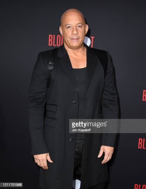 """Vin Diesel attends the premiere of Sony Pictures' """"Bloodshot"""" on March 10, 2020 in Los Angeles, California."""