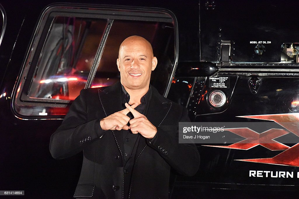 Vin Diesel attends the premiere of 'XXX-Return Of Xander Cage' at O2 Cineworld on January 10, 2017 in London, England.