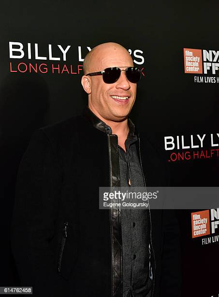 Vin Diesel attends the RealD Sponsors World Premiere of Billy Lynn's Long Halftime Walk at AMC Loews Lincoln Square on October 14 2016 in New York...