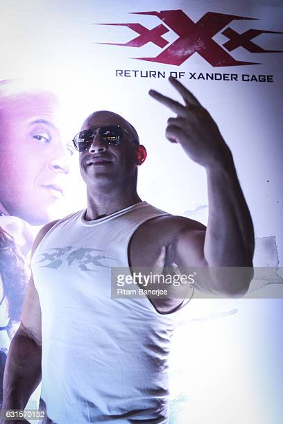 Vin Diesel attends the red carpet and VIP fan screening of the Paramount Pictures 'xXx The Return Of Xander Cage' on January 12 2017 at IMAX PVR...