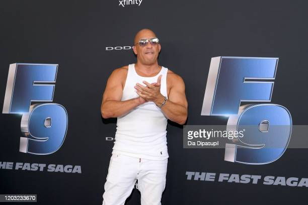 """Vin Diesel attends """"The Road to F9"""" Global Fan Extravaganza at Maurice A. Ferre Park on January 31, 2020 in Miami, Florida."""