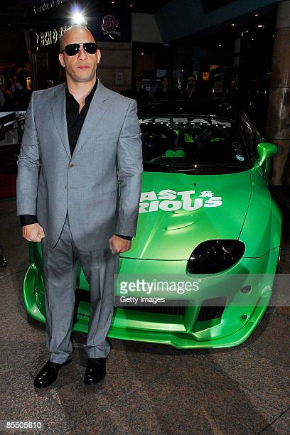 Vin Diesel attends the UK premiere of 'Fast and Furious 4' held at the Vue Cinema Leicester Square on March 19 2009 in London England