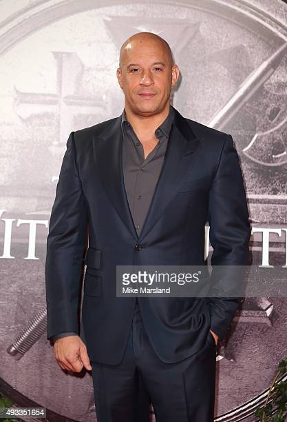 Vin Diesel attends the UK Premiere of The Last Witch Hunter at Empire Leicester Square on October 19 2015 in London England