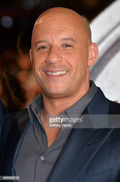 "Vin Diesel attends the UK Premiere of ""The Last Witch Hunter"" at Empire Leicester Square on October 19, 2015 in London, England."