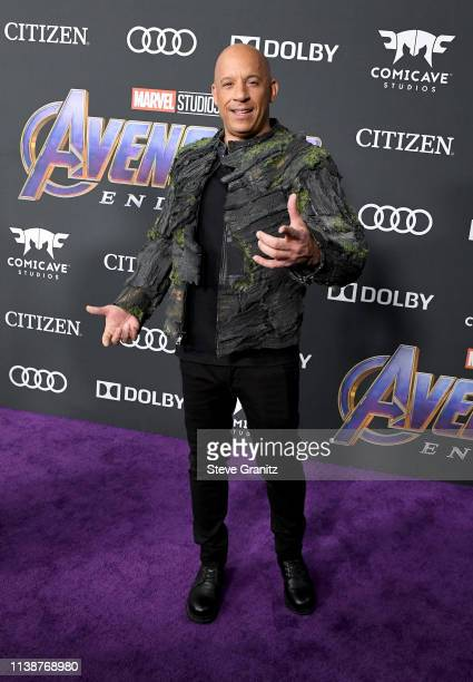 Vin Diesel attends the world premiere of Walt Disney Studios Motion Pictures Avengers Endgame at the Los Angeles Convention Center on April 22 2019...