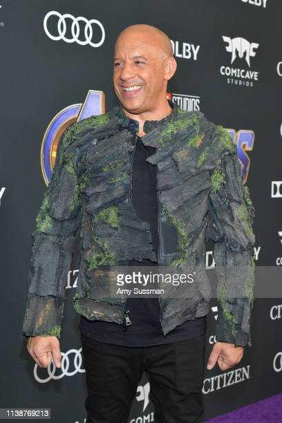 "Vin Diesel attends the world premiere of Walt Disney Studios Motion Pictures ""Avengers: Endgame"" at the Los Angeles Convention Center on April 22,..."