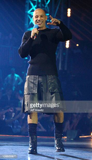 Vin Diesel during MTV Europe Music Awards 2003 - Show at Ocean Terminal Arena in Edinburgh, Scotland.