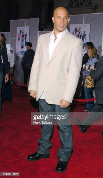 Vin Diesel during 'The Pacifier' Los Angeles Premiere Arrivals at The El Capitan in Hollywood California United States