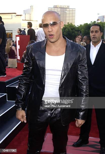 Vin Diesel during 'XXX' Premiere in Los Angeles at Mann's Village in Westwood California United States