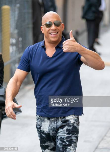 Vin Diesel is seen at 'Jimmy Kimmel Live' on March 09, 2020 in Los Angeles, California.