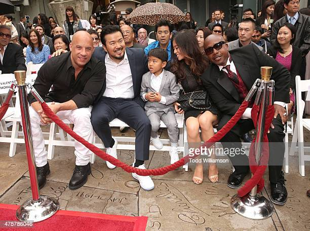 Vin Diesel Justin Lin with family and MC Hammer attend the 88th Birthday Of TLC Chinese Theater IMAX Honoring Justin Lin Zhao Wei And Huang Xiaoming...