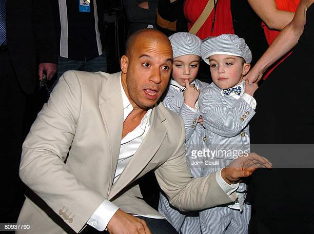 Vin Diesel, Logan Hoover and Keegan Hoover