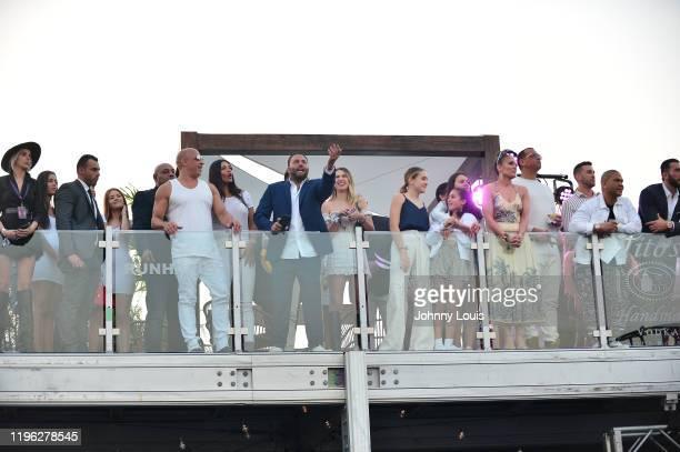 Vin Diesel model Paloma Jimenez David Grutman Jennifer Lopez and Alex Rodriguez with children Emme Maribel Muñiz Maximilian David Muñiz Natasha...
