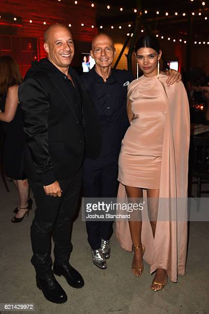 Vin Diesel Scott Fifer and Paloma Jimenez attend the 10th Annual GO Campaign Gala on November 5 2016 in Los Angeles California