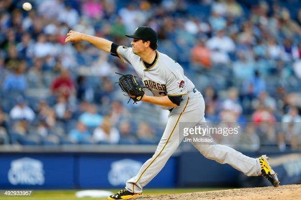 Vin Mazzaro of the Pittsburgh Pirates in action against the New York Yankees at Yankee Stadium on May 17 2014 in the Bronx borough of New York City...