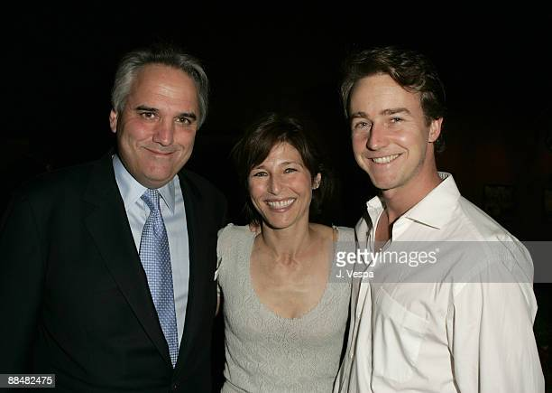 Vin Roberti Catherine Keener and Edward Norton Jr attend the Palisades Pictures screening of Going Upriver The Long War of John Kerry to kick off its...