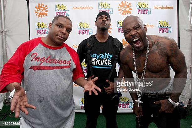 Vin Rock Kay Gee and Treach attend 90sFEST Pop Culture and Music Festival on September 12 2015 in Brooklyn New York