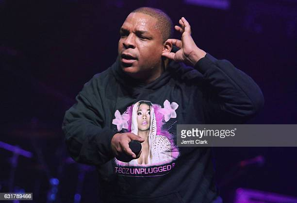 Vin Rock of Naughty By Nature performs during TBoz Unplugged A Benefit Concert Sickle Cell Disease at Avalon on January 15 2017 in Hollywood...