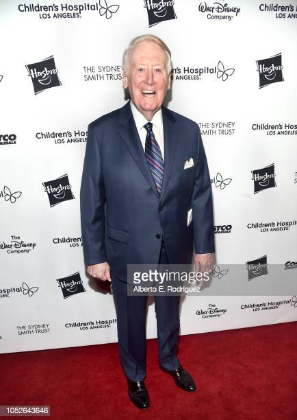 """Vin Scully attends the 2018 Children's Hospital Los Angeles """"From Paris With Love"""" Gala at LA Live on October 20, 2018 in Los Angeles, California."""