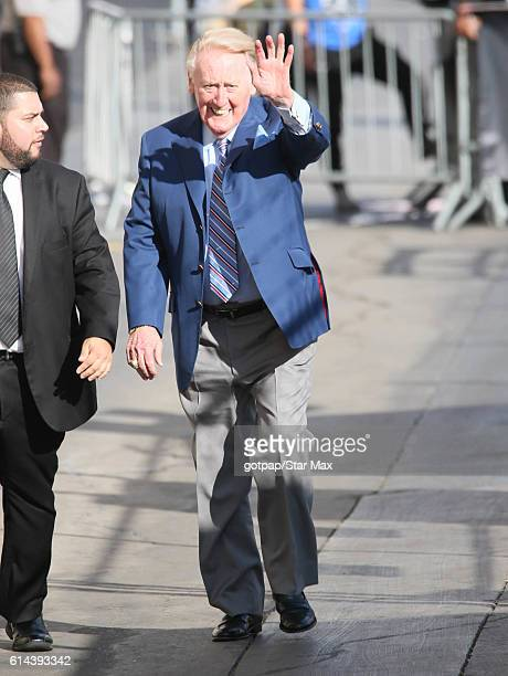 Vin Scully is seen on October 13, 2016 at Jimmy Kimmel Live in Los Angeles, California.