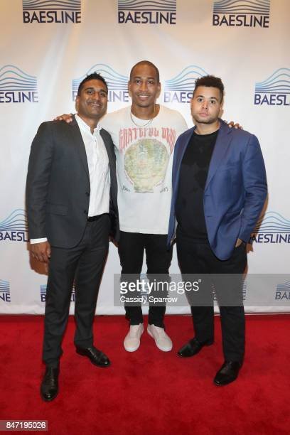 Vinay Ganti Roberto Alfonso Felipe and Alex Green attend The Baesline Launch Event on September 14 2017 in New York City