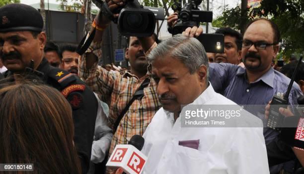 Vinay Katiyar after getting bail in Ayodhya Ram MandirBabri Masjid Demolition case at CBI court on May 30 2017 in Lucknow India Senior BJP leaders LK...