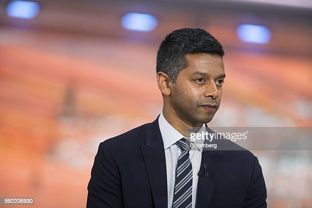 Vinay Nair cochairman at 55 Capital listens during a Bloomberg Television interview in New York US on Friday Aug 19 2016 Nair discussed the firm's...