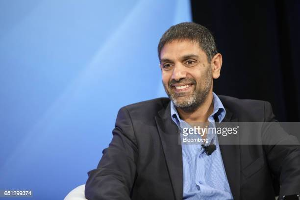 Vinay Sanghi founder of CarTrade smiles during the Montgomery Summit in Santa Monica California US on Thursday March 9 2017 The summit gathers...