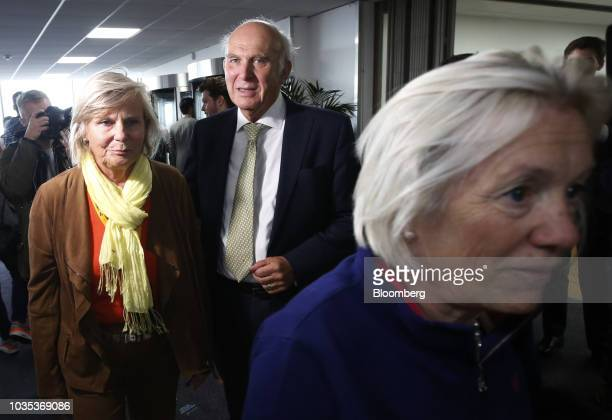 Vince Cable leader of the UK's Liberal Democrat Party delivers his keynote speech at the party's annual conference in Brighton UK on Tuesday Sept 18...