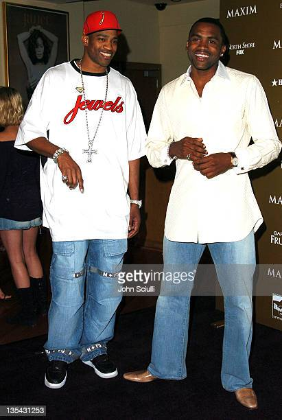 Vince Carter and Cuttino Mobley during Maxim Magazine Hot 100 Party in Celebration of the Grand Opening of Body English In the Hard Rock Hotel Casino...